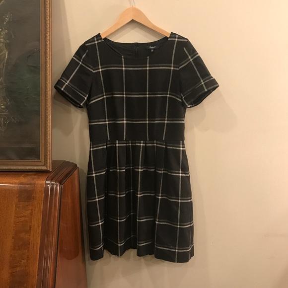 20ab67b4801 Madewell Dresses   Skirts - Madewell Windowpane Plaid Twirl Dress